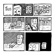 Mustache Drawings Posters - Bus Comic Poster by Karl Addison