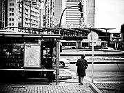 Bus Stop Framed Prints - Bus stop Framed Print by Felix M Cobos