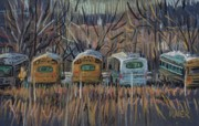 Bus Pastels - Bus Storage by Donald Maier