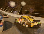 Nascar Paintings - Busch in the Bud Shootout by James Lopez