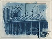 Blueprint Photo Prints - Busch Stadium Print by Jane Linders