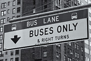Traffic Sign Photos - Buses Only II by Clarence Holmes