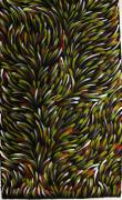 Aboriginal Art Painting Posters - Bush Medicine Leaves Poster by Gloria Petyarre