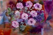 Entertaining Mixed Media Prints - Bush Morning Glory Print by Don  Wright