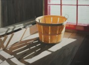 Bushel Basket Framed Prints - Bushel of Loft Light Framed Print by Nancy Teague
