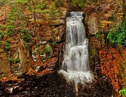 Relaxed Prints - Bushkill Main Falls Print by Nick Zelinsky