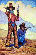 Lawmen Framed Prints - Bushwacked at the Arroyo Framed Print by Donn Kay