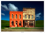 Bodie Framed Prints - Business District Framed Print by Lar Matre
