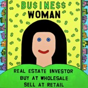 Outsider Art Paintings - Business Woman by MaryAnn Kikerpill