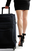 Business-travel Art - Businesswoman with a Trunk by Oleksiy Maksymenko