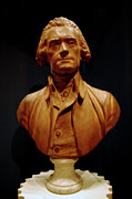 Thomas Jefferson Posters - Bust of Thomas Jefferson  Poster by LeeAnn McLaneGoetz McLaneGoetzStudioLLCcom