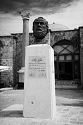 Ammochostos Posters - Bust Statue Of Namik Kemal In Namik Kemal Square Famagusta Turkish Republic Of Northern Cyprus Trnc Poster by Joe Fox