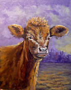 Steer Paintings - Buster by J P Childress