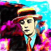 Silver Screen Legend Prints - Buster Keaton Print by Arne Hansen