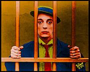 1920 Movies Art - Buster Keaton Jail by Che Rellom