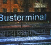 Abstracted Metal Prints - Busterminal Metal Print by Odd Jeppesen