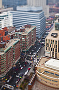 New York City Rooftop Photos - Busy City Street by Eddy Joaquim