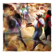 Haitian Digital Art Prints - Busy Corner Print by Bob Salo