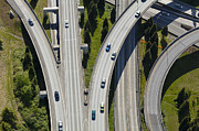Merging Photos - Busy Freeway Interchange by Don Mason
