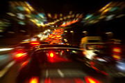 Tail Light Photos - Busy Highway by Carlos Caetano