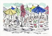 Busy Mixed Media - Busy Market by Claire Budden