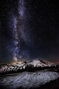 Snow Capped Originals - Busy Night on Mt Rainier by Mark Rainer