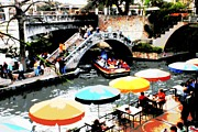 San Antonio River Walk Framed Prints - Busy San Antonio River Walk Framed Print by Carol Groenen