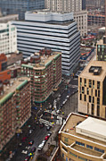 New York City Rooftop Photos - Busy Street in City by Eddy Joaquim