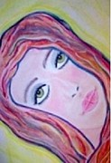 Young Lady Pastels Prints - But I Love Him Daddy Print by Lori  Lovetere