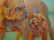 Mastiff Dog Paintings - But Mom by Kimberly Santini