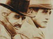 Movie Pyrography - Butch and Sundance by Cate McCauley