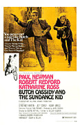 1960s Poster Art Posters - Butch Cassidy And The Sundance Kid Poster by Everett
