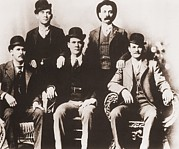 Butch Cassidy Photo Prints - Butch Cassidys Wild Bunch Gang Of Train Print by Everett