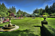 Vancouver Island Originals - Butchart Gardens Dining Room Restaurant II by Lawrence Christopher