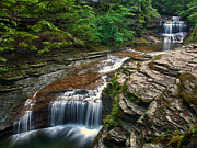 Buttermilk Falls Art - Butermilk Falls by Jeremy Martin
