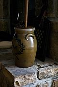 Churn Posters - Butter Churn on Hearth Still Life Poster by Douglas Barnett