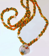 Orange Jewelry Originals - Butterflies are Free by Patricia Griffin Brett