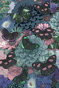 Home Paintings - Butterflies by JQ Licensing