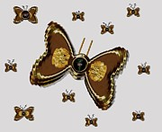 Flies Mixed Media Prints - Butterflies for the worlds  future Print by Pepita Selles