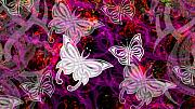 Butterflies Digital Art - Butterflies by Steve Thorpe