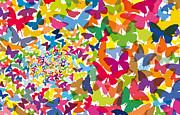 Butterfly-01 Print by Eakaluk Pataratrivijit