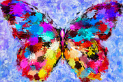 Photo Manipulation Metal Prints - Butterfly 2 Metal Print by Yury Malkov
