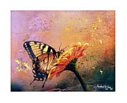 Outdoors Painting Acrylic Prints - Butterfly Acrylic Print by Andrew King