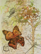 Michele Hollister - For Nancy Asbell Posters - Butterfly Art Journal Poster by Michele Hollister - for Nancy Asbell