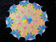Amy Bradley Art - Butterfly At Night Mandala by Amy Bradley