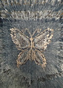 Butterfly Tapestries - Textiles Metal Prints - Butterfly background. Metal Print by Panyanon Hankhampa