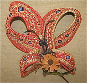 Raffia Sculptures - Butterfly by Beth Lane Williams