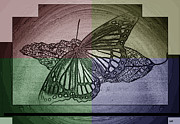 Fluttering Posters - Butterfly Collection Colors Poster by Debra     Vatalaro
