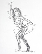 Mark Drawings - Butterfly Dancer by Mark Johnson