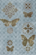 Tapestry Paintings - Butterfly Deco 1 by JQ Licensing